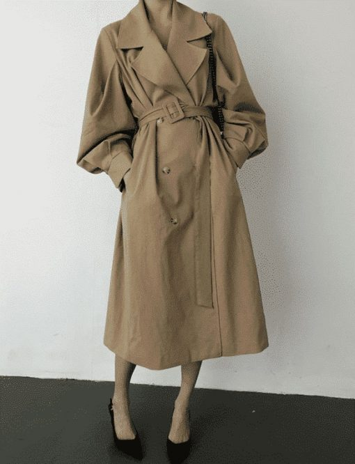 Manteau trench long oversize