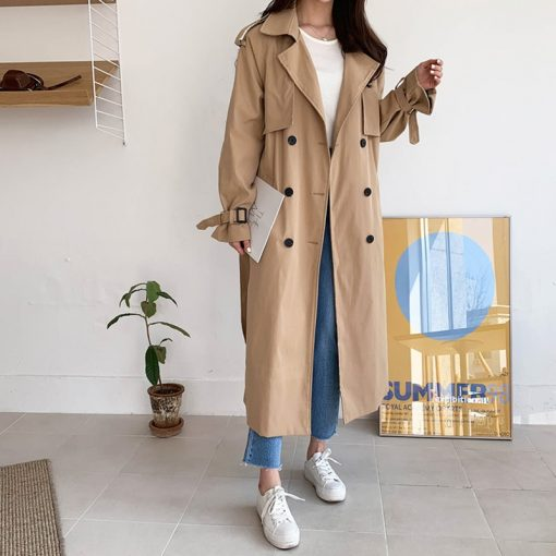 trench coat boutons beige
