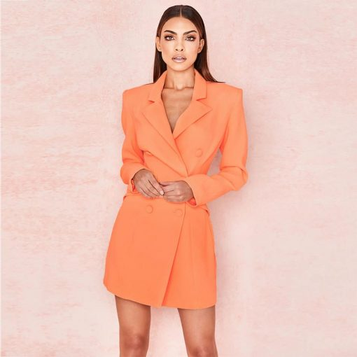 Robe blazer orange