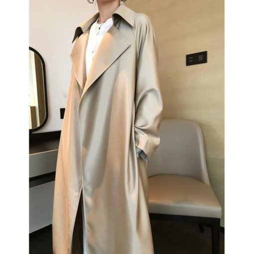 Trench coat oversize effet satin