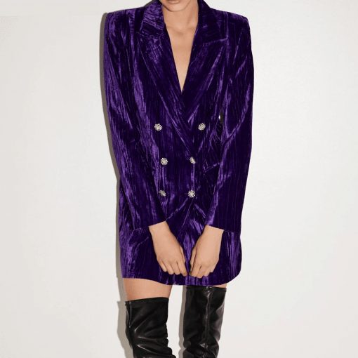 Robe blazer velours chic